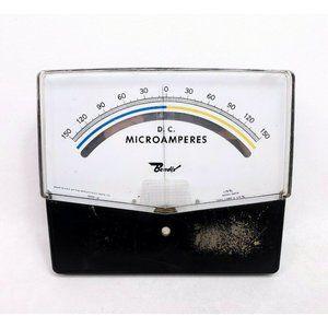 For Repair Vintage D.C. Microamperes Meter Gauge